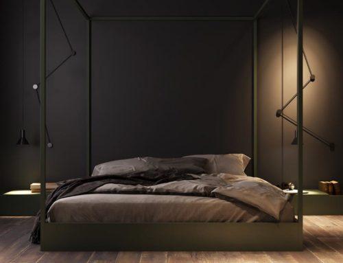 Темно-сірий декор створює неймовірну атмосферу