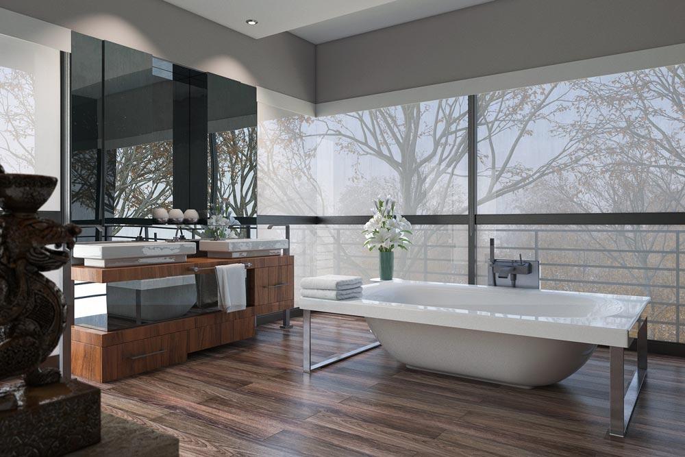 spc підлога в ванній кімнаті